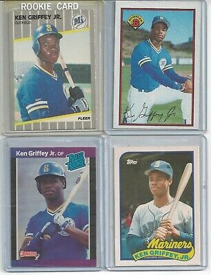 1989 Ken Griffey Jr Rookie Card Rc Lot Of 5 Donruss Fleer