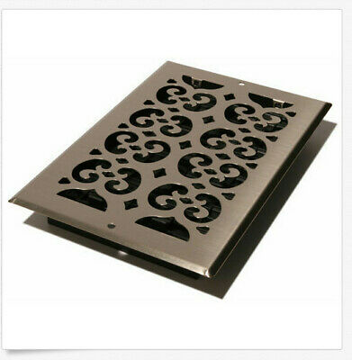 Decor Grates SP612W-NKL Wall and Ceiling Register, 6-Inch by 12-Inch, Nickel