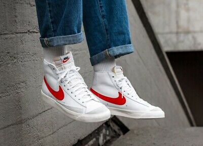Details about Nike Blazer Mid Men's Trainers Red suede & Blue Size 9 44
