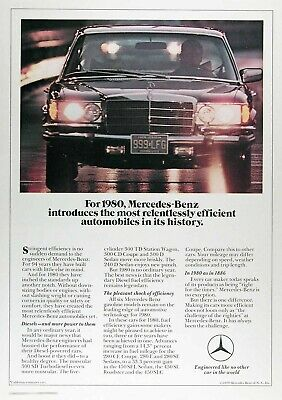 1980 MERCEDES BENZ Diesel Sedan Genuine Vintage Advertisement ~ 300 SD Turbo