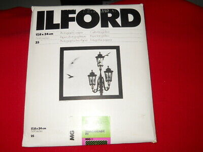 BRAND NEW Ilford Multigrade Glossy 7x9 1/2 25 Sheets PHOTOGRAPHIC PAPER NEW MG