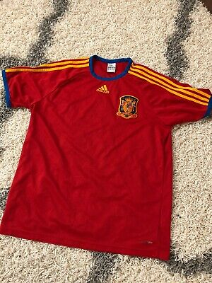 36324c2c9 Adidas ClimaLite Spain Espana World Cup Soccer Jersey Futbol Red Size Large