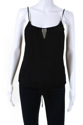5f11feb56158 Rory Beca Womens Scoop Neck Spaghetti Strap Tank Top Black Silk Size XS