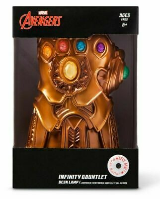 Marvel Avengers Infinity Gauntlet LED Light Up Infinity Gem Stones Desk Lamp 8""