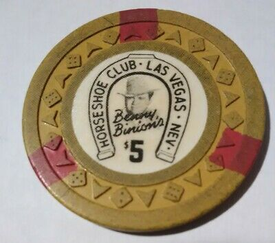 1953 Horseshoe Casino Las Vegas, Nevada $5.00 Chip Great For Any Collection!