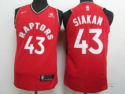 New Raptors # 43 Sikam Red jersey