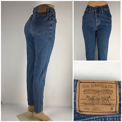 Levis Vintage Orange Tab Womens 11 Jeans High Waisted Rise Slim Fit Tapered Mom