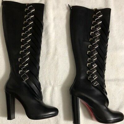 c23f51de233 CHRISTIAN LOUBOUTIN KNEE High Stiletto Boots Brown suede 38.5 ...