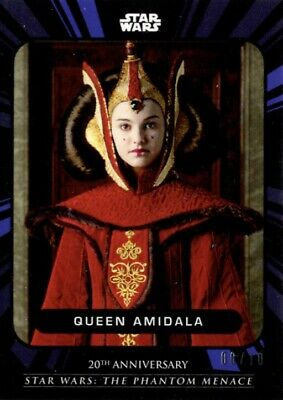 Star Wars Phantom Menace On Demand Padme / Queen Amidala Blue Card 08/10 (3B)