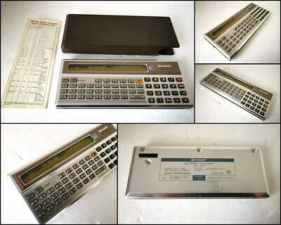 Vintage Sharp PC-1211 Pocket Computer with Case & Manual