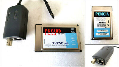 TRENDnet TE-210CT 10 Mbps Ethernet PCMCIA PC Card