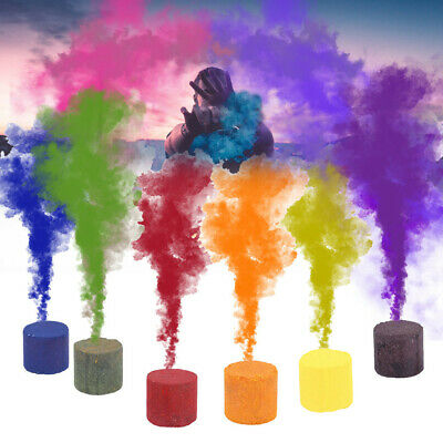 Rainbow Color Smoke Cake Bomb Round Effect Show Magic Photography Stage Aid Toy
