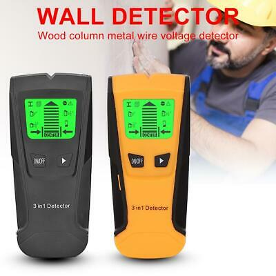 3in1 LCD Metal Detector Studs Center Scanner Finder Wall AC Live Cable Wire Test