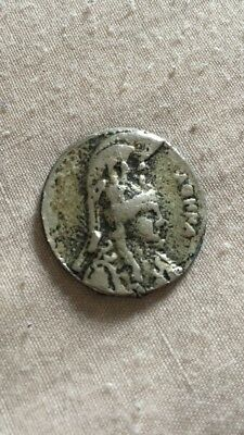 Very Rare Silver Ancient Greek Coin Featuring Minerva