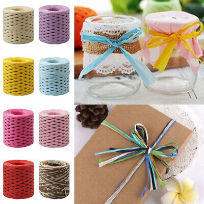 1 Roll Raffia Ribbon Paper String Rope Baking Handwork Wrapping DIY Craft Hot