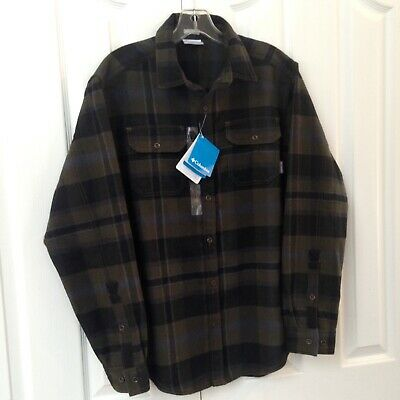 ac7683c14cf COLUMBIA Deschutes River Heavyweight Flannel Shirt Men's Size Small ~ New!