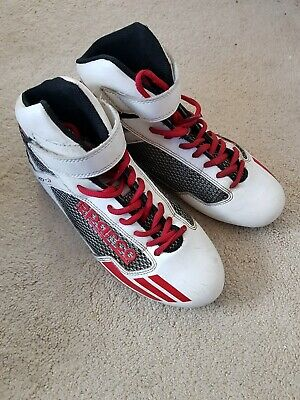 Sparco KB-3 Kart Boots White/Red