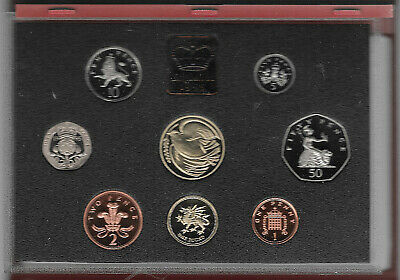 Great Britain 1995 De Luxe Proof Coin Set No Toning
