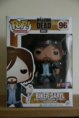 "Funko Pop The Walking Dead 96 ""Biker Daryl"" Px Previews Exclusive"
