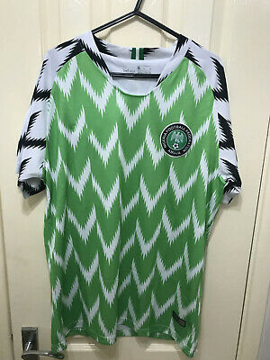 NIGERIA FOOTBALL Jersey Sports T-Shirt HOME JERSEY WORLD CUP 2018/19 UK Seller