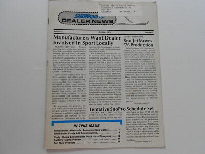 SnowSports Dealer News snowmobile magazine 1975 Factory Racing Preview for 1976