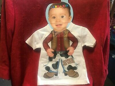 Just Add A Kid T-Shirt Mesquite Pro Rodeo Size Infant 12M New Cowboy Sheriff