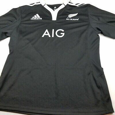 1ed49506503 ADIDAS ALL BLACKS Rugby Jersey Shirt polo New Zealand Men's XL ...