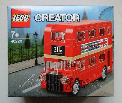 LEGO STORE CREATOR ROUTEMASTER LONDON BUS 40220 LIMITED EDITION STICKERS !