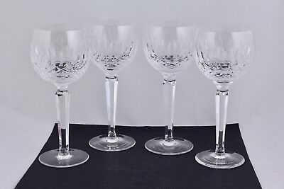 """Waterford Crystal Set Of 4 Colleen 7-1/4"""" Wine Hock Glasses - Mint"""