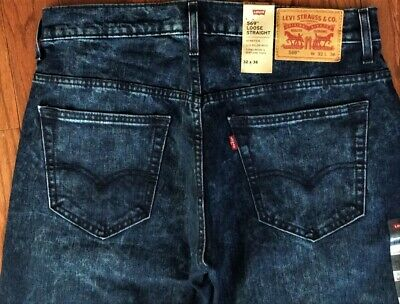 35c3f52d43b Levi's Men's NWT 569 0305 32x36 Ball Point Blue~Loose Straight Fit Stretch  Jeans