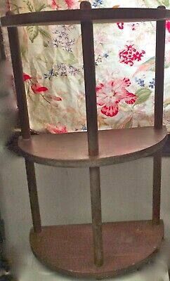 ARTS AND CRAFTS Stand Lamp Side TABLEMISSION HALF CIRCLE 3 TIER demi lune Book