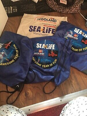 Merlin Annual Pass Sea life Legoland Tote Bags Discount Vouchers Bundle