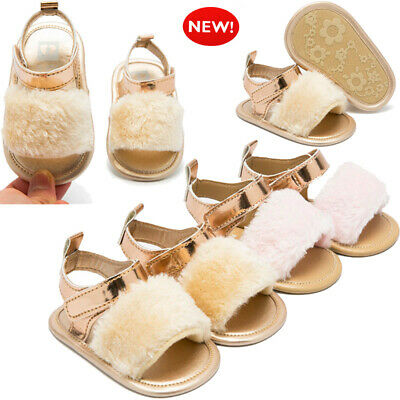 US Newborn Infant Baby Boy Girl Crib Prewalker Soft Sole Anti-slip Shoes Sandals
