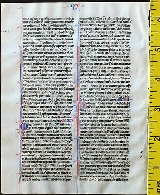 Early ca.1250 Bible manuscript leaf in Latin on very fine vellum,Numbers 23-26