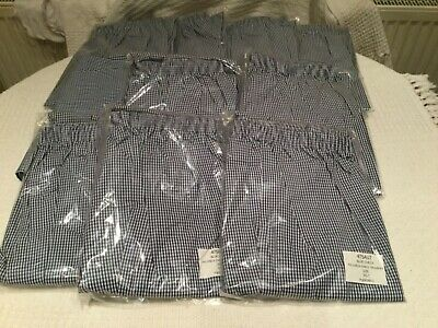 NEW CHEF QUALITY TROUSERS 4 x PAIRS BLUE AND WHITE CHECK SIZE 3XL