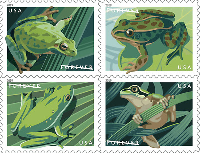 #5395-5398a 2019 Frogs Booklet block/4 - MNH