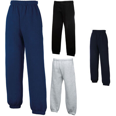 New Fruit of the Loom Childrens Kids Jog Pants Bottoms in 3 Colours Ages 5-15