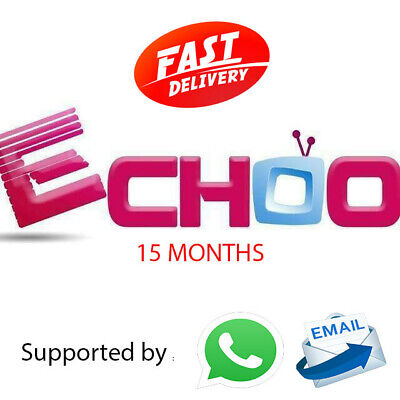 15 months - ECHOO TV IPTV and VOD Code or M3U link, More Than 4000 Channels
