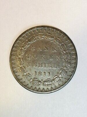 George III 3 Shilling Bank Token Coin 1811