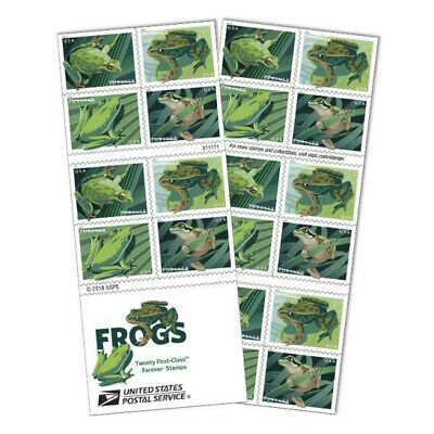 #5395 - 5398b 2019 Frogs Booklet/20  - BCA  - MNH (Ships after July 10)