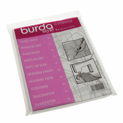 Burda Dressamkers Tissue Tracing Paper Tailors Dressmaking Sewing Embroidery