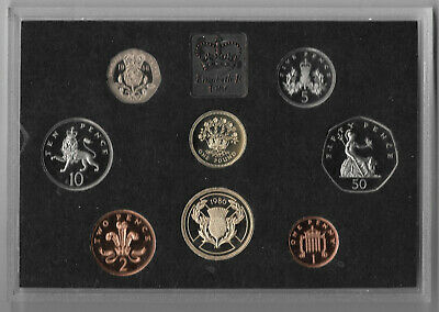Great Britain 1986 Coin Proof Coin Set No Toning