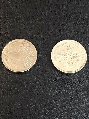 Bill Of Rights & Dove Of Peace Two Pound Coins £2