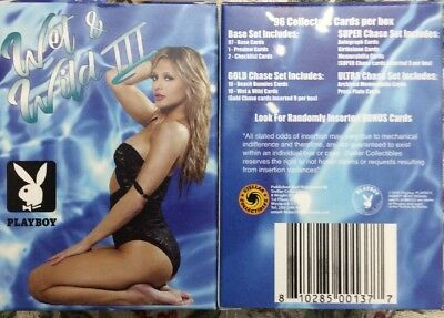 Playboy's Wet And Wild 3 Trading Cards Base Set With Box