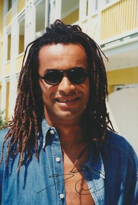YANNICK NOAH in person signed PHOTO 8x12 inch, 20x30 cm