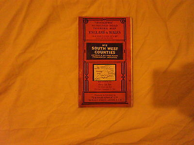 No2 South West Counties - Geographia numbered road touring map...