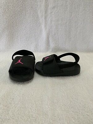 9fa6963cfc3 Nike Air Jordan Hydro 6 Toddler Girls Black/hyper pink Sandals~size 7 C
