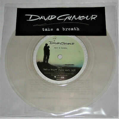 DAVID GILMOUR Take A Breath 7 Clear Vinyl Promo Only 45 PINK FLOYD Dave EMI RARE