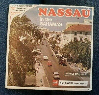 B026 Nassau New Providence Island in the Bahamas Cities view-master reels packet