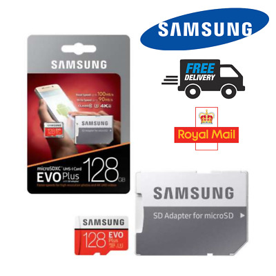 SAMSUNG 4K 128GB Micro SD SDXC Memory Card 100MBs UHSI Class 10  With SD ADAPTER